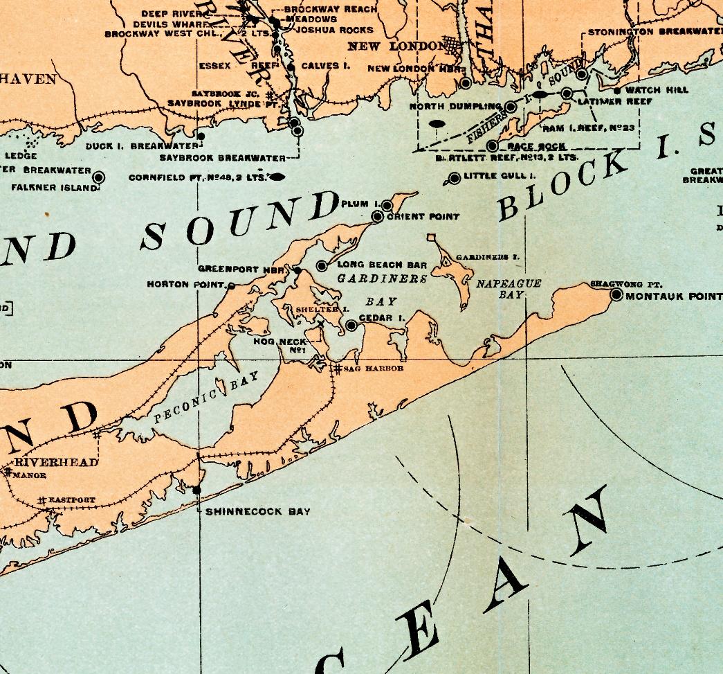 Map Of Long Island Lighthouses